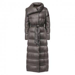 Пуховое пальто Eleventy. Цвет: серый