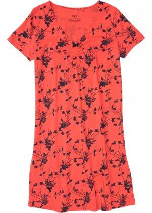 Сорочка ночная bonprix. Цвет: красный