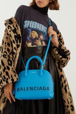 Голубая сумка с логотипом Ville small Balenciaga. Цвет: голубой