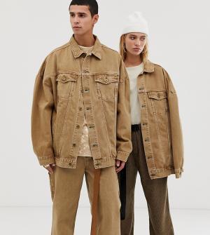 Свободная джинсовая куртка песочного цвета COLLUSION-Бежевый Collusion