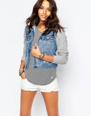 Джинсовая куртка Hollister. Цвет: синий
