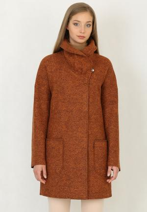 Пальто Trifo. Цвет: оранжевый