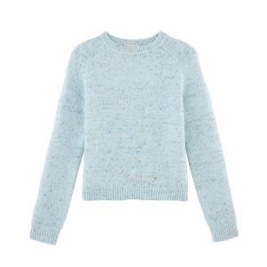 Пуловер с круглым вырезом из трикотажа в крапинку DOUDOU PAUL & JOE SISTER. Цвет: небесно-голубой