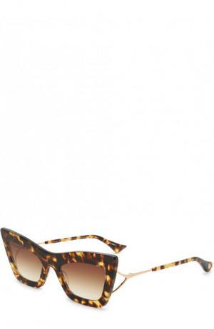 Солнцезащитные очки Dita. Цвет: коричневый