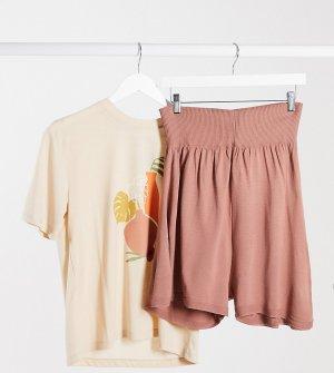 Розовые трикотажные шорты для бега -Розовый Fashionkilla Maternity