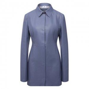 Кожаная рубашка Off-White. Цвет: голубой