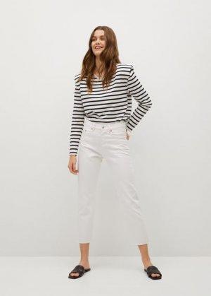 Прямые джинсы до щиколотки - Havana Mango. Цвет: белый