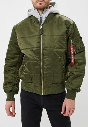 Куртка утепленная Alpha Industries MA-1 D-Tec Puffer OS. Цвет: хаки