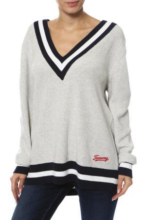 Пуловер Tommy Jeans. Цвет: серый