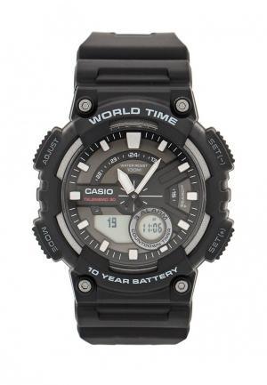 Часы Casio Collection AEQ-110W-1A. Цвет: черный