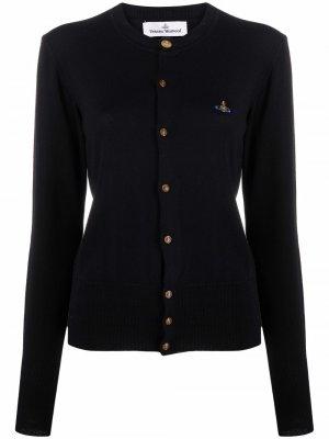 Кардиган с вышивкой Orb Vivienne Westwood. Цвет: черный