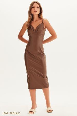 Платье из экокожи LOVE REPUBLIC