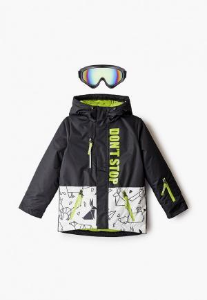 Куртка сноубордическая Boom с маской. Цвет: черный