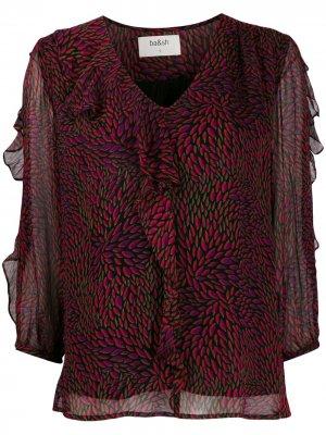 Блузка-трапеция с оборками Ba&Sh. Цвет: фиолетовый