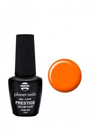 Гель-лак для ногтей Planet Nails PRESTIGE - 537, 10 мл кислотный оранжевый. Цвет: оранжевый