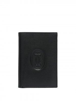 Бумажник pre-owned с тисненым логотипом Cartier. Цвет: черный