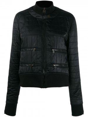 Стеганая куртка-бомбер Chanel Pre-Owned. Цвет: черный