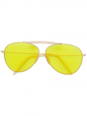 Солнцезащитные очки-авиаторы Howard Acne Studios. Цвет: золотистый