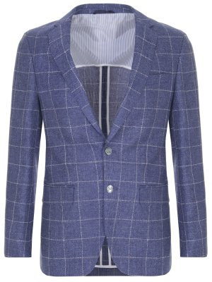 Пиджак из шерсти и льна BOSS