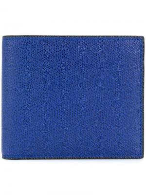 Классический бумажник Valextra. Цвет: синий