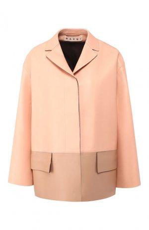 Кожаная куртка Marni. Цвет: розовый