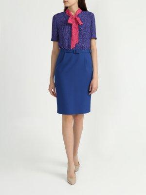 Офисное платье Korpo Two. Цвет: siniy