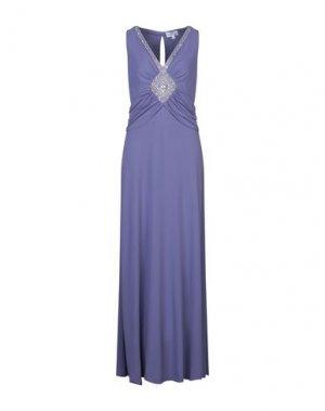 Длинное платье GAI MATTIOLO. Цвет: фиолетовый