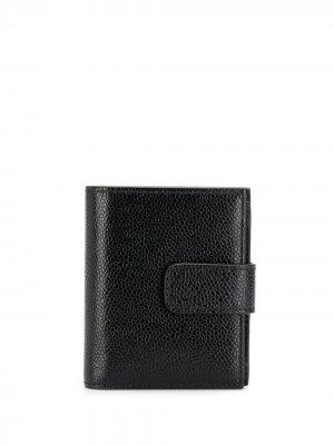 Бумажник из зернистой кожи Thom Browne. Цвет: 001 черный