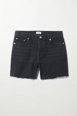 Джинсовые шорты Draught Weekday. Цвет: черный