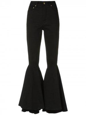 Расклешенные брюки Amapô. Цвет: черный