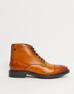 Светло-коричневые кожаные ботинки -Светло-коричневый Base London