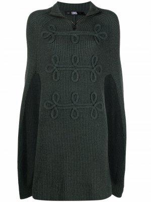 Шерстяной кейп Karl Lagerfeld. Цвет: зеленый