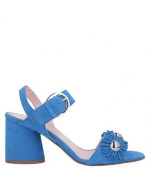 Сандалии ANNA F.. Цвет: пастельно-синий