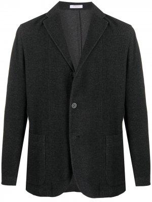 Пиджак строгого кроя Boglioli. Цвет: серый