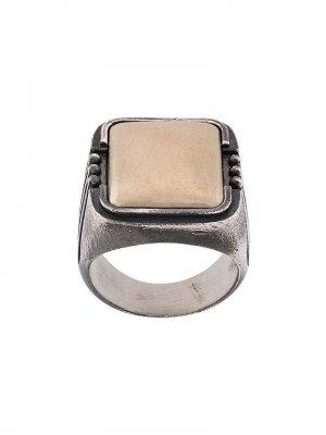 Перстень с камнем Nove25. Цвет: серебристый