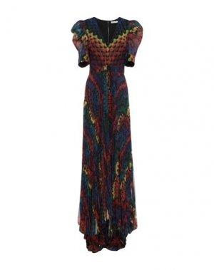 Длинное платье ALICE + OLIVIA. Цвет: темно-синий