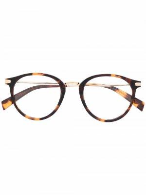 Levis очки в круглой оправе Levi's. Цвет: коричневый