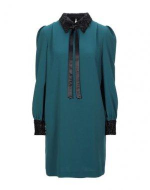 Короткое платье ANNARITA N. Цвет: изумрудно-зеленый