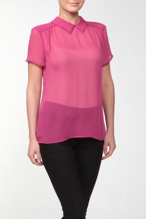 Блузка Joe Suis. Цвет: розовый