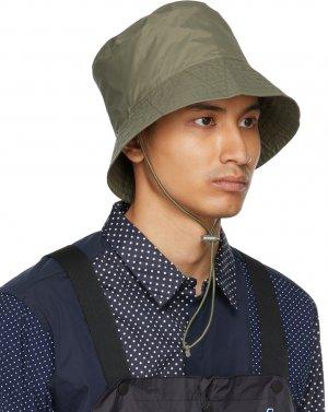 Khaki K-Way Edition Pascalen 3.0 Bucket Hat Engineered Garments. Цвет: khaki