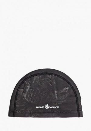 Шапочка для плавания MadWave BLACK RUS. Цвет: черный