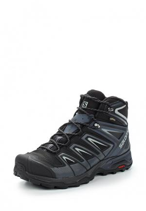 Ботинки трекинговые Salomon X ULTRA MID 3 GTX®. Цвет: черный