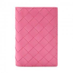 Кожаная обложка для паспорта Bottega Veneta. Цвет: розовый