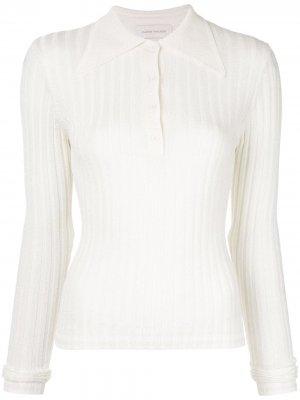 Рубашка-поло с длинными рукавами Karen Walker. Цвет: белый