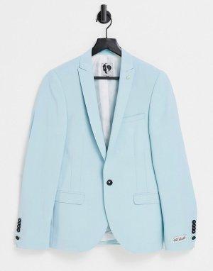 Мятно-голубой пиджак Twisted Tailor