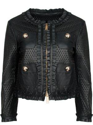 Кожаная куртка с декором DSQUARED2