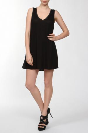 Платье джерси Aiko. Цвет: черный