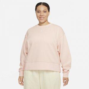 Женская флисовая толстовка оверсайз Sportswear Collection Essentials (большие размеры) - Оранжевый Nike