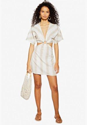 Платье пляжное Topshop. Цвет: белый