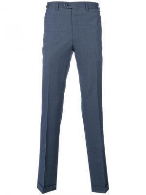 Классические брюк со стрелками Brioni. Цвет: синий